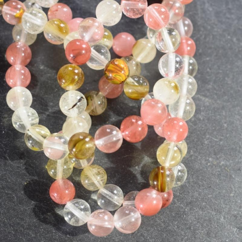 Bracelet en tourmaline melon d'eau. - photo vitrine